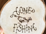 Wooden Gone Fishing Magnet,Gone Fishing Decor,Fisherman Gifts