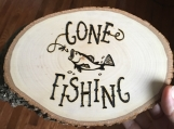 Wooden Gone Fishing Sign,Gone Fishing Decor,Fisherman Gifts