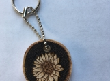 Wooden Sunflower Keychain,Sunflower Decor,Unique gifts for Mom