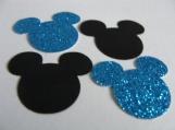 Aqua Blue and Black Mickey Mouse Confetti
