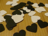 Black and White Heart Confetti