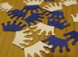 Blue and White Crown Confetti