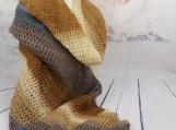 Brown Shawl| Brown wrap| crocheted shawl| Evening Shawl| crochet