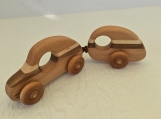 Bug out Car and Camper / Handmade wooden toy / Hard Wood