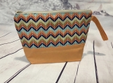 chevron Cosmetic bag| accessories bag| makeup bag| Travel bag