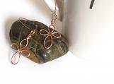 Copper Wire Cross Earrings