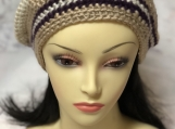 Crochet striped hat