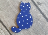 Cat Pin - Cat Brooch - Wooden Jewelry - Hand painted Pin