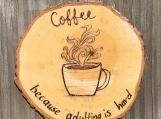 Funny Coffee Coaster,Coffee Table Coasters,Wood Drink Coasters