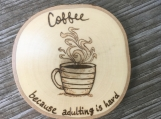 Funny Coffee Coaster,Coffee Table Coasters,Wood Drink Coasters