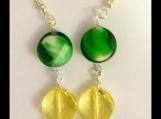 Glass beads and Swarovski crystal earrings