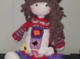Granny Crochet Doll, handcrafted, can make custom orders.any col