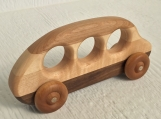 Hand Made Wood School Bus -