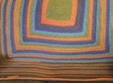 Handmade crocheted square Afghan