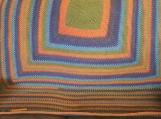 Handmade crocheted square Afghan