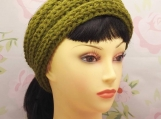 Knit-look wide ribbed headband **PDF Pattern**