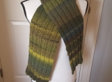 Winter Scarf twin rib pattern knitted
