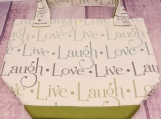 Live..Laugh..Love canvas bag