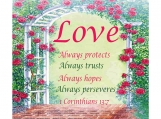 Love Always, 1 Corinthians 13 Verse 7, Printable, 11 x 14