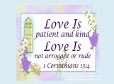 Love Is, 1 Corinthians 13 verse 4, Printable 11 x 14