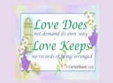 Love Keeps, 1 Corinthians 13 verse 5, Printable 11 x 14