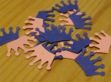 Pink and Blue Crown Confetti