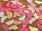 Pink and Gold Baby Feet Confetti
