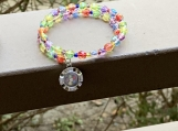 Rainbow Czech Crystal bracelet