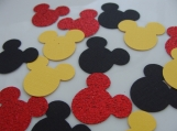 Red, Yellow and Black Mickey Mouse Confetti
