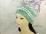 Sage green hat| Green hat| Green beanie| striped beanie| striped