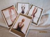 Set of Ballet theme Thank You cards
