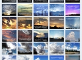 Sky Photography Collage Printable - Skies Proclaim Glory Of God