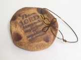 Vintg. Bronze Non-Tarnish Wire Cross Bracelet-Double Wire Bangle