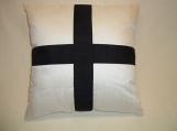 "Decorative Pillow Cover ""Black Cross"""