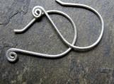 spiralette-- simple custom earrings-- primitive series