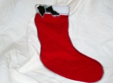 Stained Glass Christmas Stocking - red and white