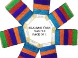15 Yards Recycled Sari Silk Yarn - 5 colors 75 Yds | Sample card