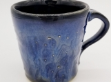 "3.5"" Black/Blue Mug with dots and lines texture - 161329"