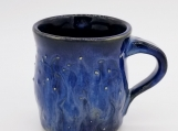 "3.5"" Black/Blue Mug with dots and lines texture - 161225"