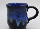 "4"" Tall Black/Blue Mug - 161720"