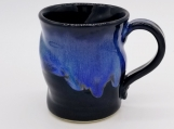 Black/Blue Mug with swirls