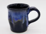 Black/Blue Mug with vertical ripples - 160943
