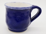 Blue Cobalt Mug with white