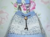 Blue Mosaic mini bucket bag