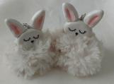 Crochet  bunny keychain