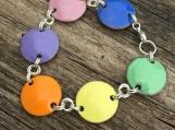 Enamelled Copper Bracelet - Pastel Colours