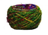 hand dyed Kohinoor Recycled Sari Silk Yarn- Multicolor 100 Grams