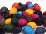 Hand Dyed Silk Cocoons, Silk Cut Cocoons.