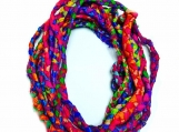 Handmade Silk cord Braided Sari Silk Ribbon.