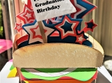 Handrafted Burger 3D Box Greeting Card